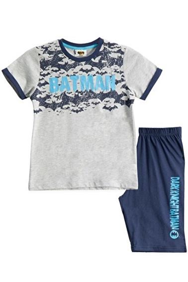 Batman Batman Lisanslı Grimelanj Erkek Çocuk Bermuda Takımı Gri